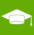 cap student icon green vector image