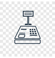 cashier machine concept linear icon isolated on vector image