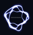 circle neon light lamp frame color power vector image
