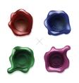 Colored Wax Seals Set vector image
