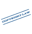 Copyright Law Watermark Stamp vector image vector image