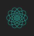 decorative geometric symbol vector image vector image