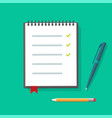 diary paper notepad or notebook flat vector image