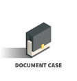 document case icon symbol vector image vector image