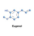eugenol is a phenylpropene vector image vector image