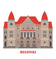 finnish national theatre in helsinki vector image