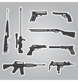 firearms weapons and guns black stickers eps10 vector image vector image