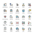 flat icons logistics delivery vector image