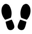 footprints from shoes vector image vector image