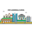 fort lauderdale florida city skyline vector image vector image