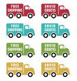 free shipping flat icons vector image vector image