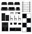 furniture set black vector image vector image