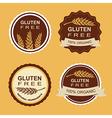 Gluten free and wheat labels Retro design