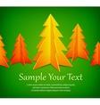 Golden fir trees on green vector image