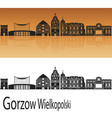 gorzow wlkp skyline vector image vector image