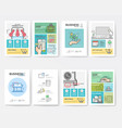 graphic and multimedia collection templates vector image
