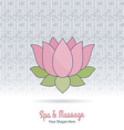Hand drawn Thai massage and spa design elements vector image