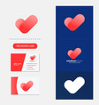 heart and checklist logo premium vector image vector image