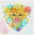 hipster polygonal animal monkey vector image vector image