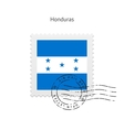Honduras Flag Postage Stamp vector image vector image