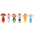 international childrens day boys and girls are vector image