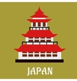 Japanese traditional pagoda flat icon vector image