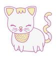 kitty cat cartoon vector image