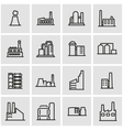 line factory icon set vector image