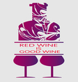 Love red wine and tasting card vector image vector image