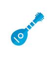 mandolin flat icon vector image vector image