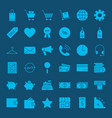 online shopping solid web icons vector image