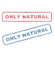 only natural textile stamps vector image vector image