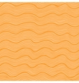 Orange wavy seamless pattern vector image vector image