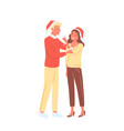 people celebrate new year holiday young happy vector image vector image