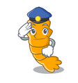 police shrimps on a character cartoon style vector image vector image