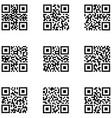 qr code icon set vector image