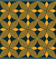 Seamless floral ornamental emblem pattern