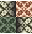 Seamless geometric patterns in the retro colors vector image vector image