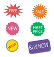 set of sale stickers and labels colorful shopping vector image vector image