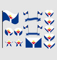 sint maarten flag set collection of symbols flag vector image vector image