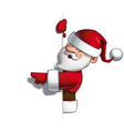 smilling santa blank label pointing vector image vector image