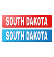 south dakota text on blue and red rectangle vector image