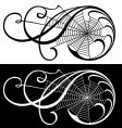 spider web scroll vector image vector image