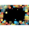 Square rainbow frame vector image
