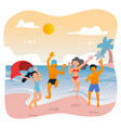 summer party at beach with friends vector image