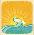 sunrise seascape vector image vector image