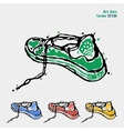 symbol sports shoes logo for running sneakers vector image vector image