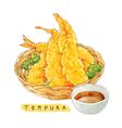 tempura watercolor vector image