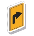 traffic signal with arrow isometric icon vector image vector image