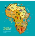 Travel Africa Poster vector image vector image